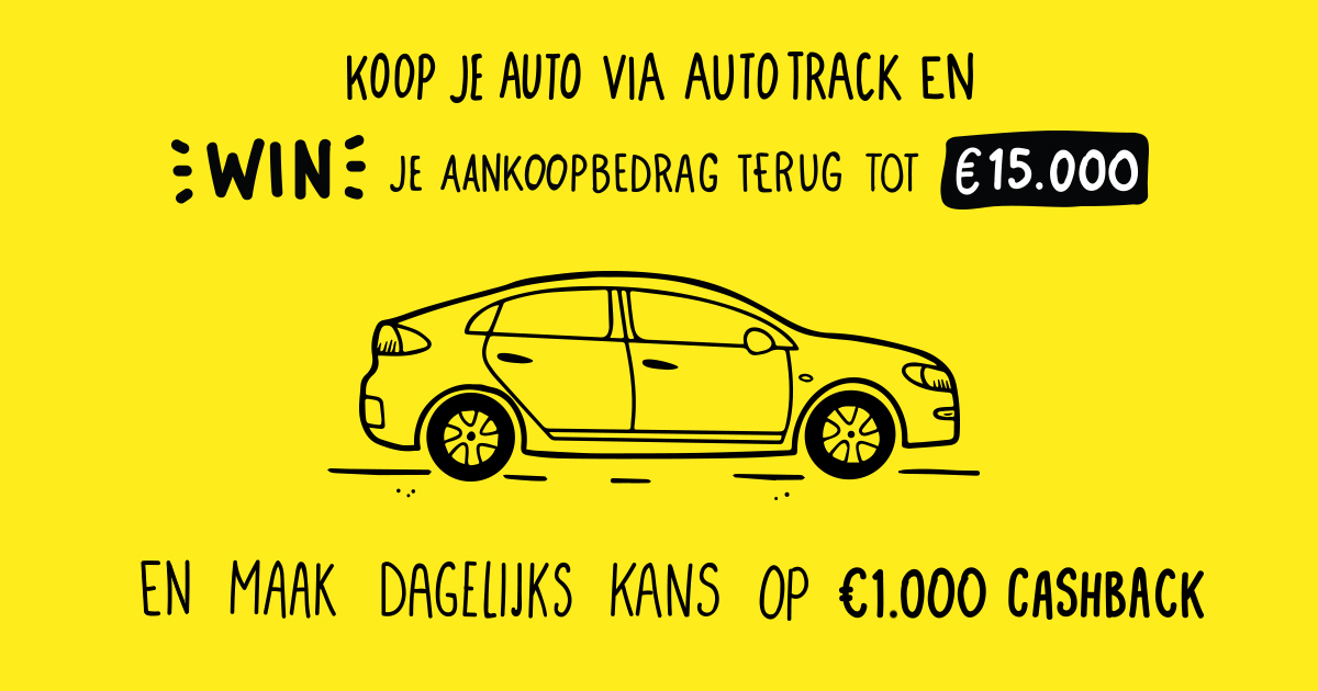 Autotrack verkoopactie, win tot € 15.000,-